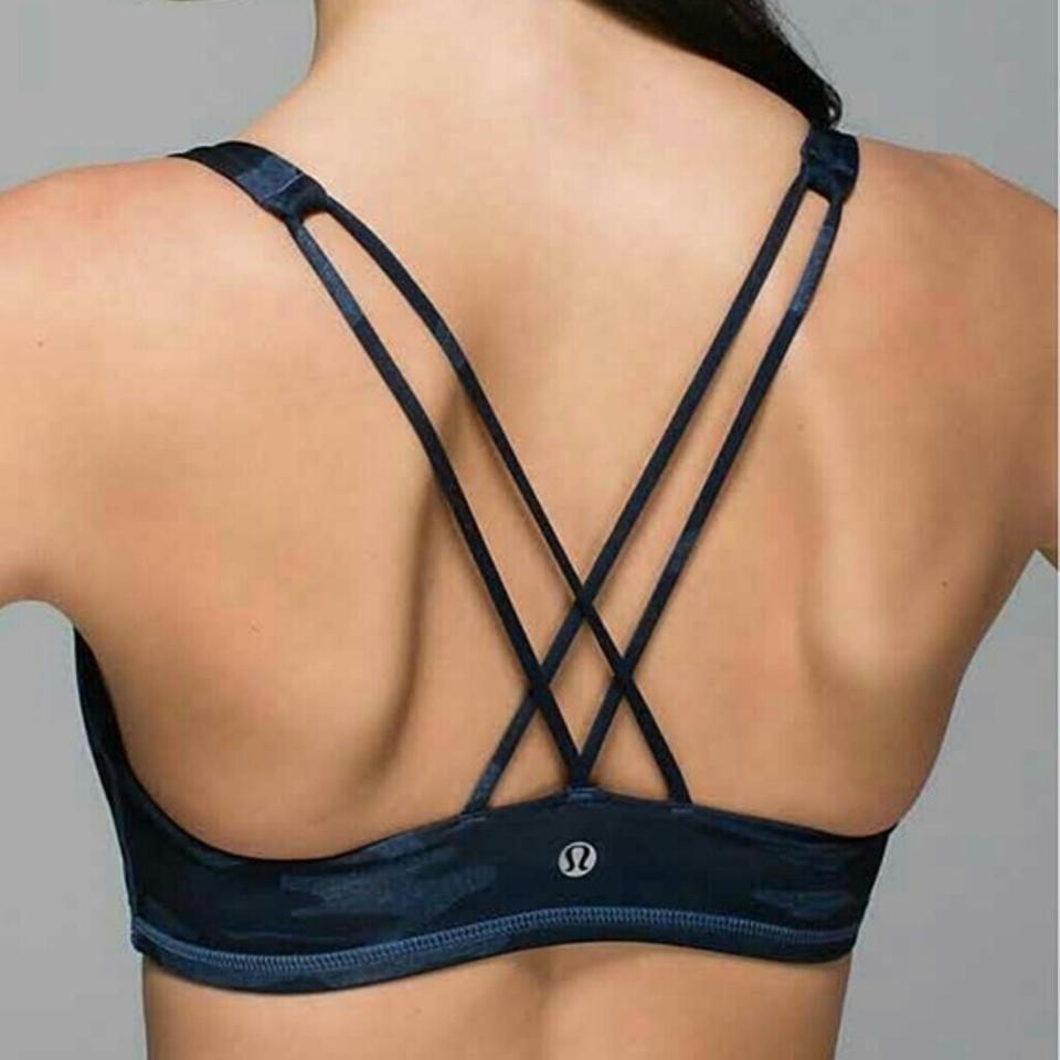 559542b05e Lululemon Blue Camo To Be In Activewear Sports Bra Size 4 (S