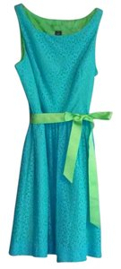 Siena Studio short dress Blue & Green Peplum Flirty Full Swing Mini Maxi Midi Party For Love And Lemons Alice + Olivia Lilly Pulitzer Vera Bradley Wang Vince on Tradesy
