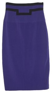 Black Halo Wiggle Pencil 2 Skirt Purple