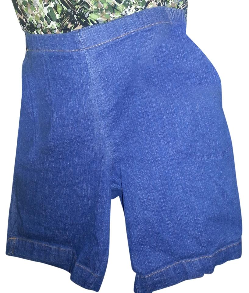 c12b90b570d3c Just My Size Blue Dark Rinse Women's Plus-size Pull-on Stretch Denim Shorts
