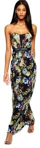 Floral Multi Maxi Dress by Little Mistress Sweetheart
