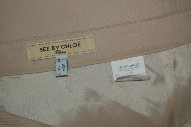 See by Chloé Wiggle Pencil Chloe 10 Ruffle Skirt Beige