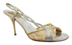 Rene Caovilla Gold Chantilly Gold, Silver Sandals