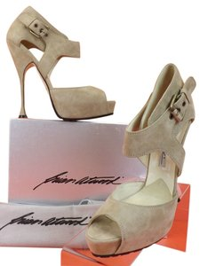 Brian Atwood Taupe Pumps