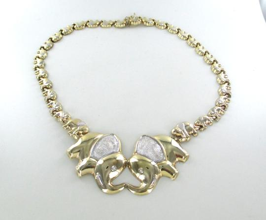 Other 10K YELLOW GOLD NECKLACE ELEPHANT GOOD LUCK ELEPHANTS 34.3 GRAMS AS DESIGNER Image 3