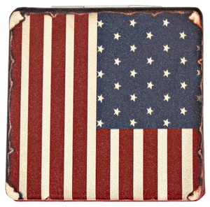 USA AMERICAN FLAG Compact Double Sided Mirror Novelty Gift