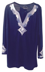 INC International Concepts Ribbon Trim Soft Cotton Tunic