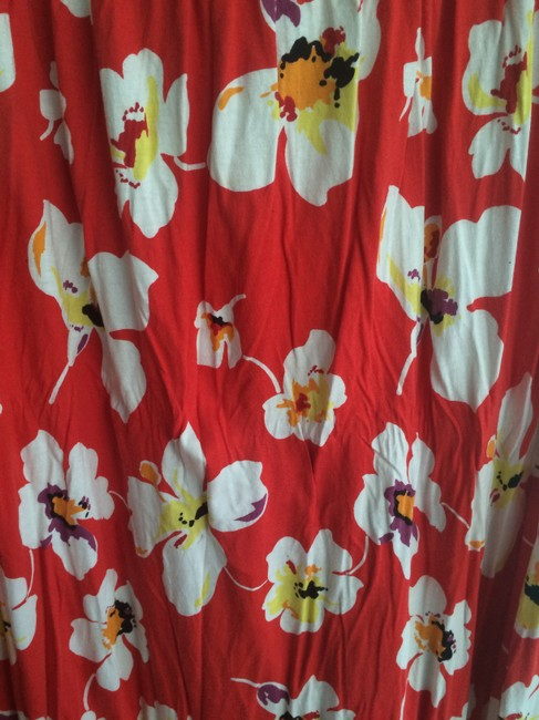 Red with Floral Pattern Maxi Dress by Old Navy Plus Size