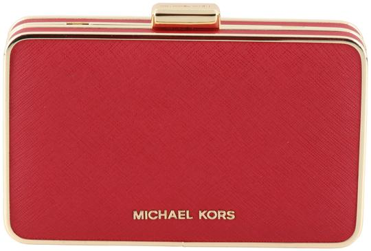Preload https://img-static.tradesy.com/item/3903346/michael-kors-elsie-saffiano-red-leather-clutch-0-2-540-540.jpg
