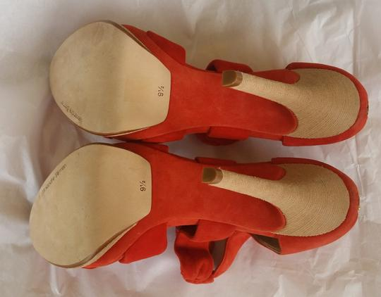 Alexandre Birman Suede Heels Knotted Red Platforms Image 3