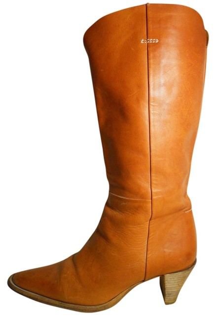 Bellini Tan Leather Western Boots/Booties Size US 7.5 Regular (M, B) Bellini Tan Leather Western Boots/Booties Size US 7.5 Regular (M, B) Image 1