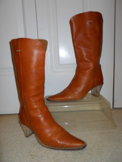Bellini Leather Western tan Boots Image 11