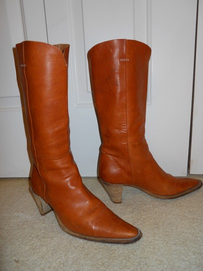 Bellini Leather Western tan Boots Image 3