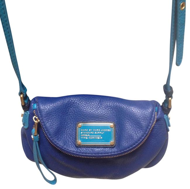 Marc by Marc Jacobs Royal Blue/Turquoise Leather Cross Body Bag Marc by Marc Jacobs Royal Blue/Turquoise Leather Cross Body Bag Image 1