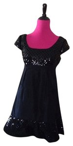 Betsey Johnson Designer Sequins Pockets Weddings Prom Classic Lbd Chic Date Night Girls Night Short Acetate Dress