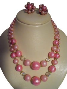 vintage beaded necklace set