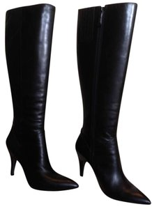 Via Spiga Leather Boot Pointed Toe Black Boots
