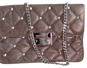 Michael Kors Metallic Metallic Hardware Studs pewter Clutch