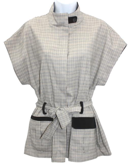 FICELLE Made In France Stretch Belted Top