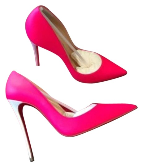 Christian Louboutin Fluo Matte Fuschia Leather So Kate 120 Pink Pumps