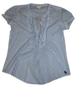 Abercrombie & Fitch Top Blue & White Stripes