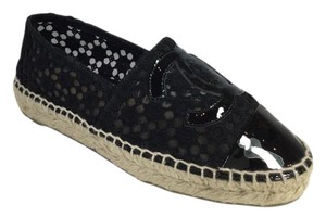 Chanel Lace Espadrille Black Flats