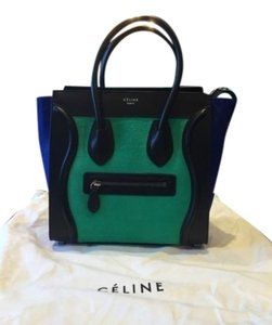 Céline Celine Micro Luggage Calf Tote in Black