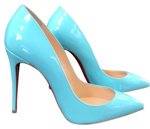 Christian Louboutin Pigalle Follies Opaline Blue Pumps