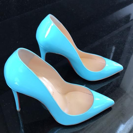 Christian Louboutin Pigalle Follies Opaline Blue Pumps Image 1