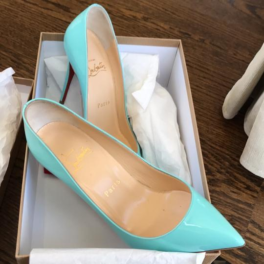Christian Louboutin Pigalle Follies Opaline Blue Pumps Image 10