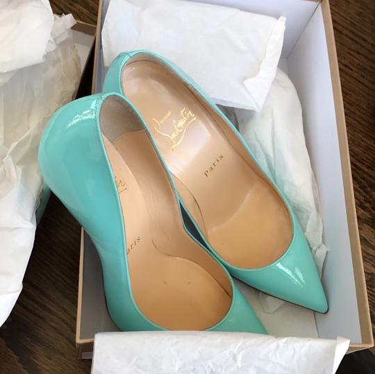 Christian Louboutin Pigalle Follies Opaline Blue Pumps Image 9