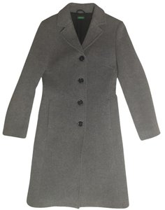 United Colors of Benetton Wool Grey Pea Coat