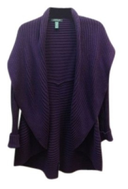 Preload https://img-static.tradesy.com/item/39074/lauren-ralph-lauren-royal-purple-ribbed-cotton-cardigan-size-6-s-0-0-650-650.jpg