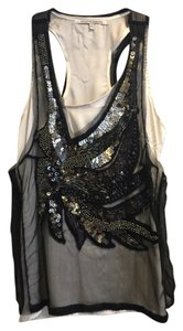 Collective Concepts Top Black Embellished