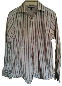 Banana Republic Formal Cotton Button Down Shirt stripes