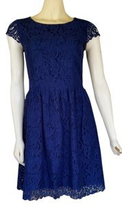 Gianni Bini short dress Blue Lace Skater on Tradesy