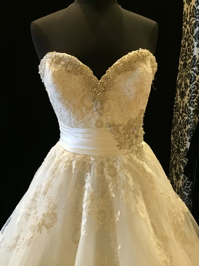 Mori Lee Ivory Tulle 2614 Formal Dress Size 6 (S)