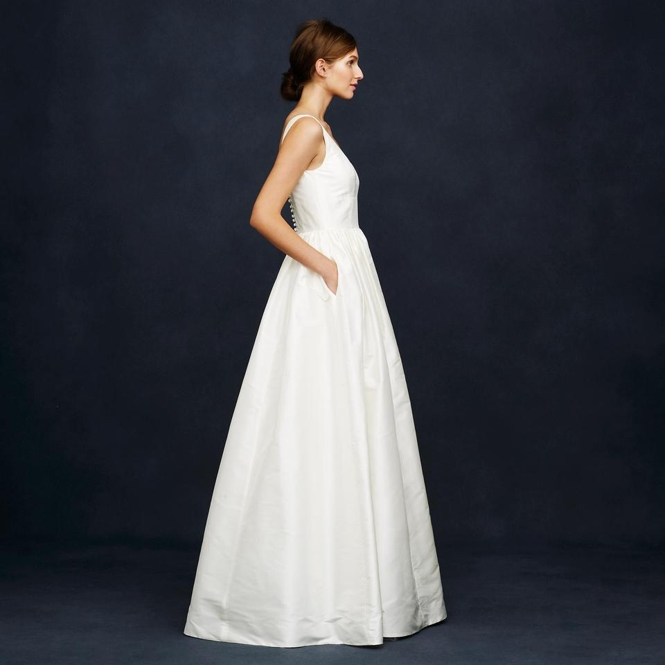 J.Crew Ivory Silk Karlie Modern Wedding Dress Size 6 (S) - Tradesy