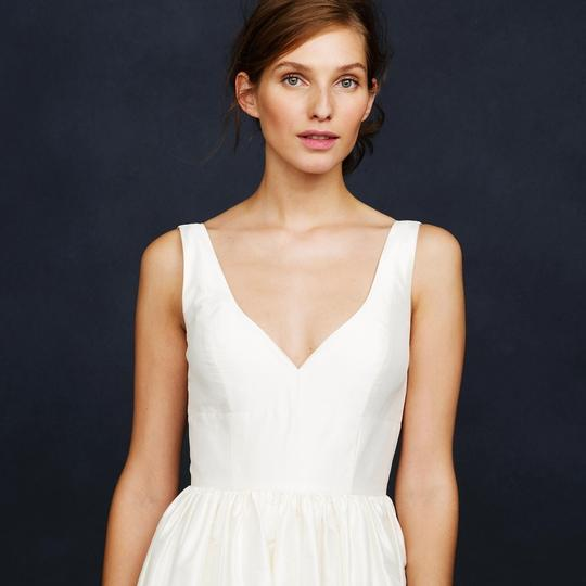 J.Crew Ivory Silk Karlie Modern Wedding Dress Size 6 (S)