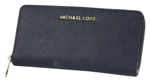 Michael Kors * Michael Kors Saffiano Leather Zip Around Wallet - Blue