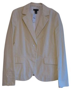 J.Crew Yellow/White Seersucker Blazer