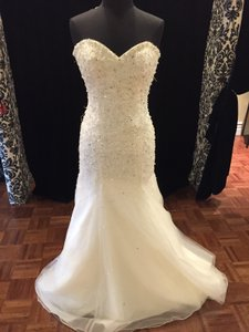 Mori Lee Ivory/Silver Tulle 2603 Formal Wedding Dress Size OS (one size)