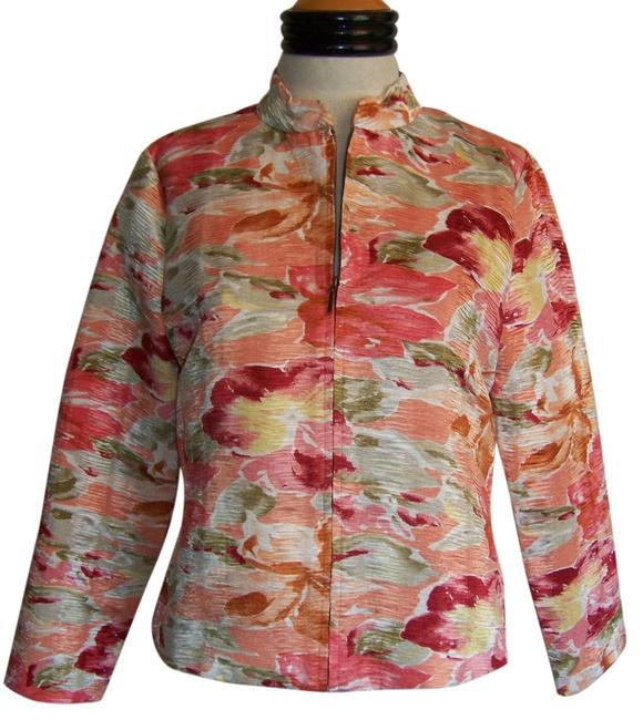 Analogy Multi Colored Floral Print Jacket