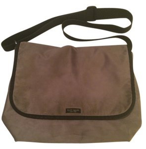 Kate Spade Messenger Nylon Velcro Straps Grey Messenger Bag