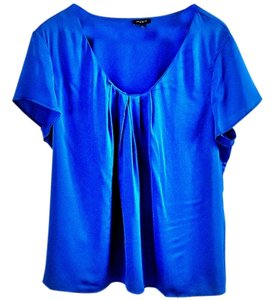 Ann Taylor Silk Top blue