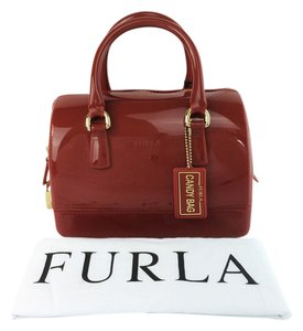 Furla Candy Red Zama Cookie Satchel in Zama Red