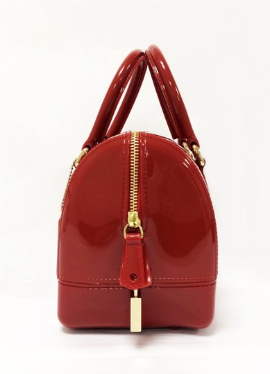 Furla Candy Red Cookie Pvc Satchel in Mini Cabernet