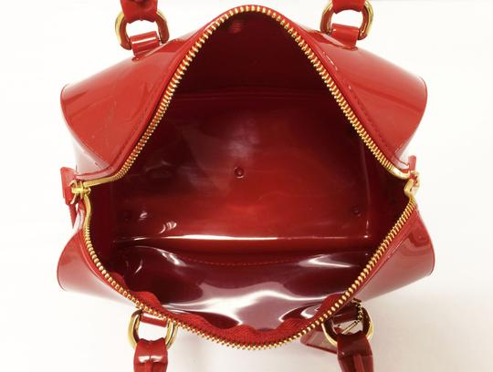 Furla Candy Red Cookie Pvc Satchel in Mini Cabernet Image 3