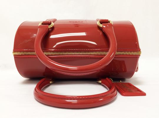 Furla Candy Red Cookie Pvc Satchel in Mini Cabernet Image 4