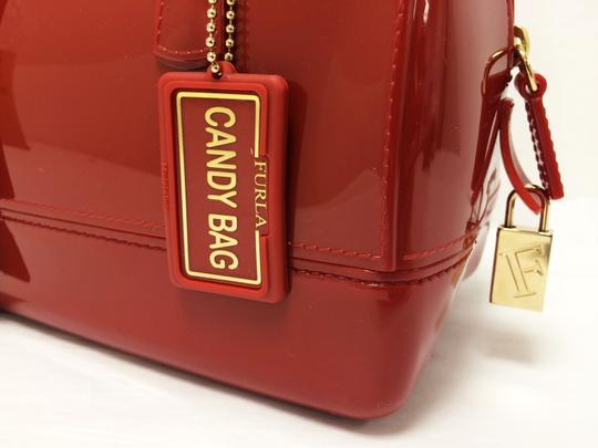 Furla Candy Red Cookie Pvc Satchel in Mini Cabernet Image 7